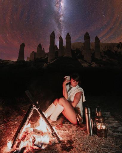 Kapadokyada çekimlerin organizasyonu
