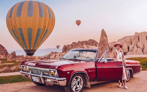 Kapadokya Klasik Araç Kiralama 1966 Kırmızı İmpala